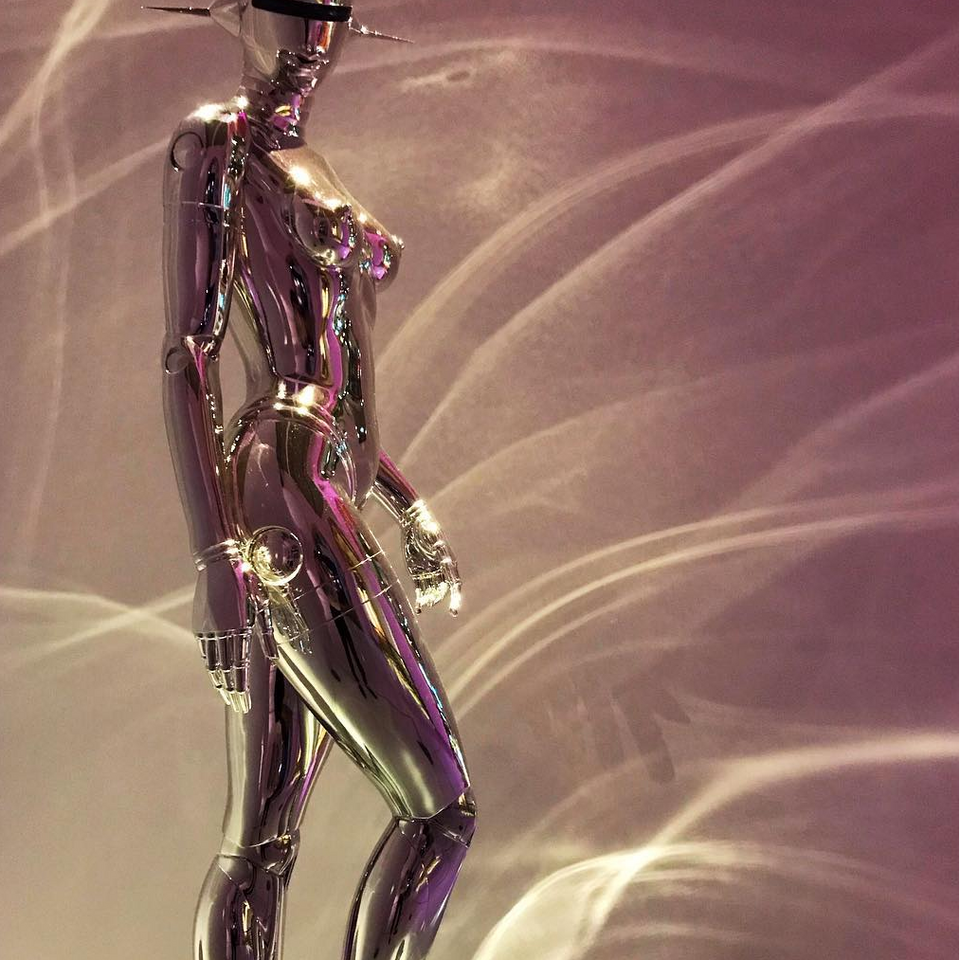 Hajime Sorayama statue that I fell in love with at the Tropenmuseum - Tattooed Travels: Amsterdam, Netherlands #tattooedtravels #travel #Amsterdam #Netherlands