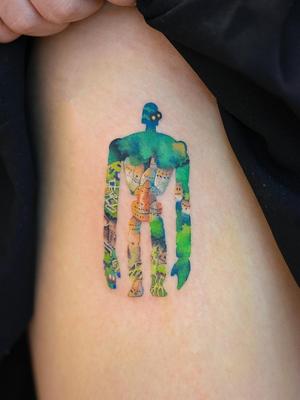 Today's favorite tattoo by Zihee #Zihee #favoritetattoos #favorite #besttattoos #tattooideas #newtattoo #tattooinspiration #cooltattoos #tattoodoapp #studioghibli #laputa #castleinthesky #anime #movie #side