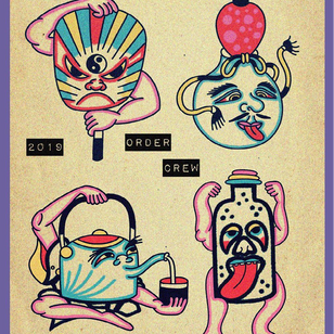 Tattoo flash by Etienne - Order Collective - Tattooed Travels: Amsterdam, Netherlands #tattooedtravels #travel #Amsterdam #Netherlands