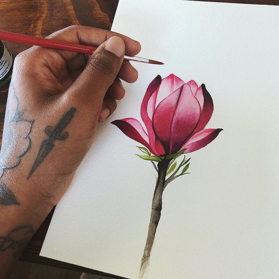Tattoo art by Jaylind Hamilton #JaylindHamilton #jaybaby #japanese #neotraditional #japanesetattoo #illustrative #qpocttt #flower #floral