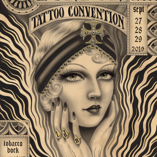 London Tattoo Convention 2019 poster by Rose Hardy #RoseHardy #LondonTattooConvention #LondonTattooConvention2019 #London #tattooconvention