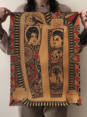Traditional tattoo flash by Enrico Grosso aka Henry Big #EnricoGrosso #HenryBig #traditional #americantraditional #trad #traditionaltattoo