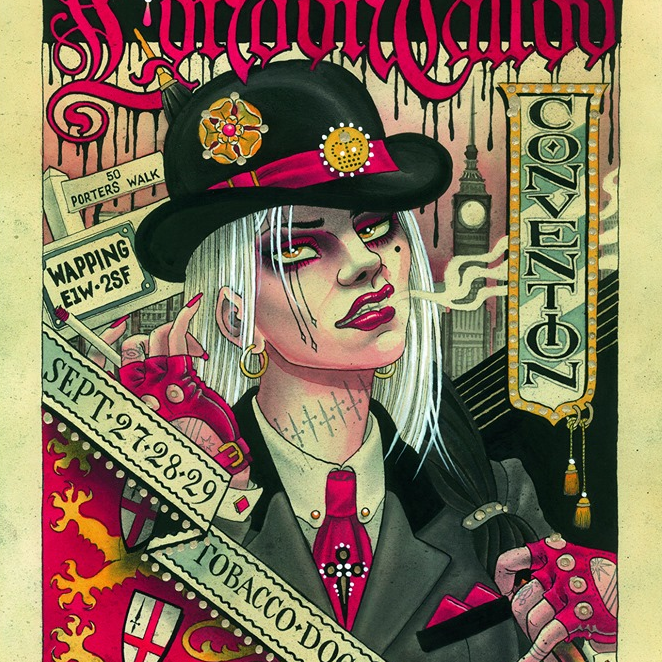 London Tattoo Convention 2019 poster by Chris Conn #ChrisConn #LondonTattooConvention #LondonTattooConvention2019 #London #tattooconvention