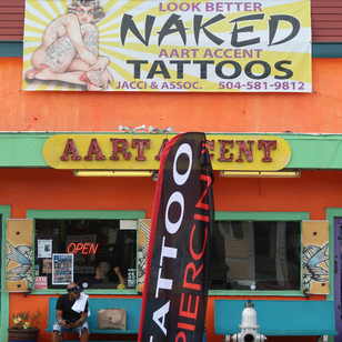 Jacci Gresham's studio Aart Accent Tattoos and Piercing in New Orleans #JacciGresham #aartaccenttattoosandpiercing #NewOrleans #NOLA