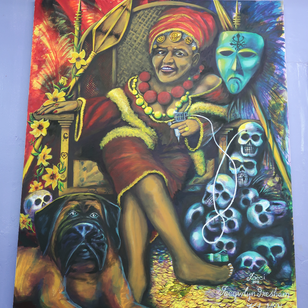 Painting in Jacci Gresham's studio #JacciGresham #aartaccenttattoosandpiercing