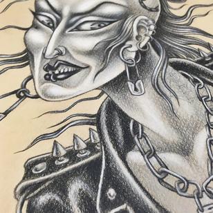Tattoo art by Hanna Sandstrom #HannaSandstrom #DarkAgeSeattle #Seattle #tattooart #illustration #punk #tattooflash