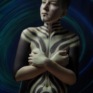 Design by Delphine Noiztoy for Hanumantra's Faces of the Future #DelphineNoiztoy #HanumantraLamar #FacesoftheFuture #LondonTattooConvention #LondonTattooConvention2019 #London #tattooconvention