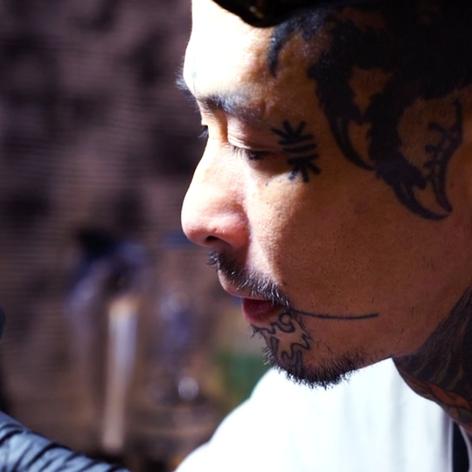 Gangi tattooing at Tokyo Three Tides #Ganji #TokyoThreeTides #Japanese #tattooartist #yokai #darkart #TheArtsofSubversion #film #Tokyo #Japan