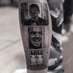 Horror tattoo by Inal Bersekov #InalBerskov #TheShining #JackNicholson #heresJohnny #stanleykubrick #horrortattoos #horrortattoo #horror #darkart #evil #ghosts #darkness #death #realism #hyperrealism #movietattoo
