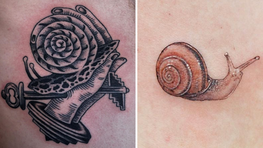 Snail Tattoos Because They are Seriously Fascinating Lil' Creatures