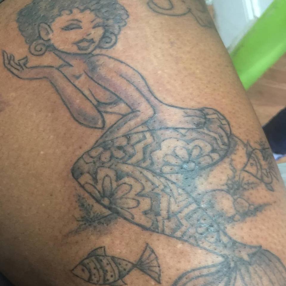 Mermaid tattoo by Jacci Gresham #JacciGresham #aartaccenttattoosandpiercing
