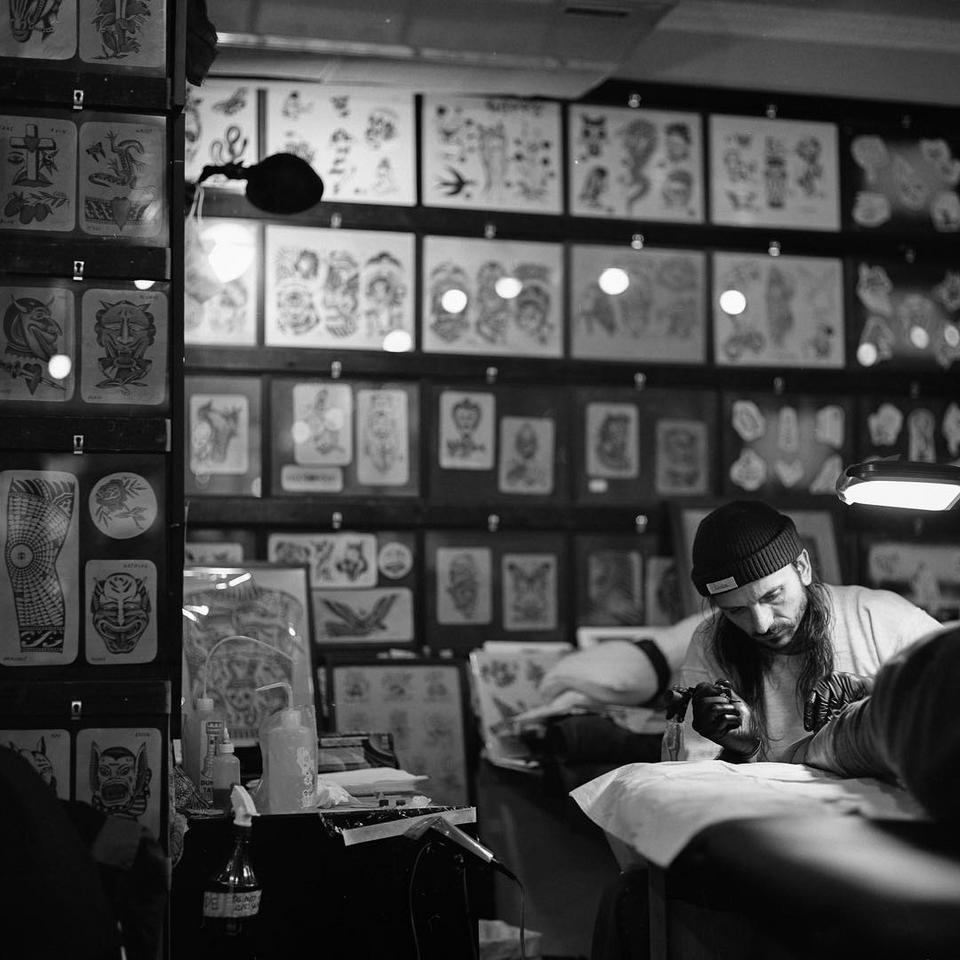 Portrait of tattoo artist Enrico Grosso aka Big Henry by Anthony Dicaro #EnricoGrosso #HenryBig