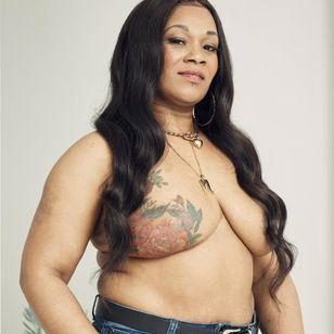 Natasha for Breast Cancer Now and GHD #BreastCancerNow #GoodHairDay #mastectomytattoo #mastectomyscarcoveruptattoo #scarcoveruptattoo #nippletattoo #mastectomy