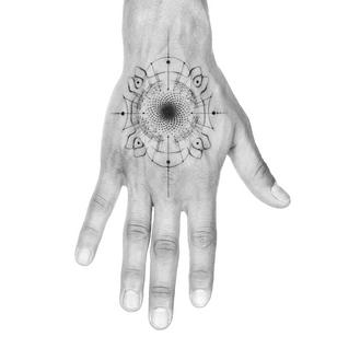 Illustrative tattoo by Peter Laeviv #PeterLaeviv #realism #illustrative #linework #intricate #detailed #fineline #abstract #sacredgeometry #handtattoo