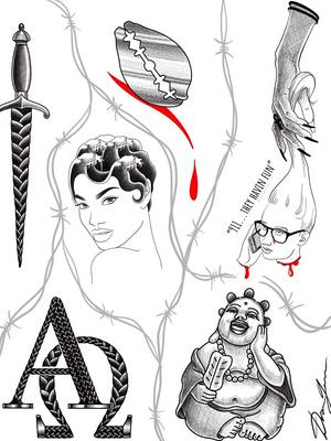 Tattoo Flash by Doreen Gardner for Ink the Diaspora X Welcome Home Tattoo Tattoo Flash and Panel Event : The Experience of a Black Tattooer #InktheDiaspora #WelcomeHomeTattoo #Brooklyn #NewYork #flashevent #tattooflash #blacktattooer #poc #DoreenGarner