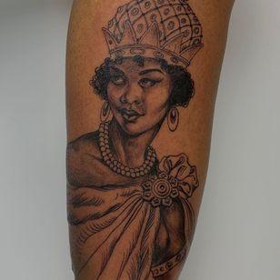 Illustrative portrait by Anderson Luna #AndersonLuna #finearttattoos #arthistory