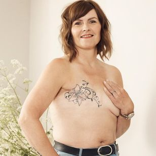 Kathleen for Breast Cancer Now and GHD #BreastCancerNow #GoodHairDay #mastectomytattoo #mastectomyscarcoveruptattoo #scarcoveruptattoo #nippletattoo #mastectomy
