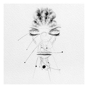 Illustrative tattoo flash by Peter Laeviv #PeterLaeviv #realism #illustrative #linework #intricate #detailed #fineline #abstract #portrait #moon