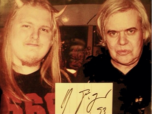 Paul Booth with HR Giger in 1993 #HRGiger #PaulBooth #LastRites #BoothGallery #biomechanical #darkart #surrealism
