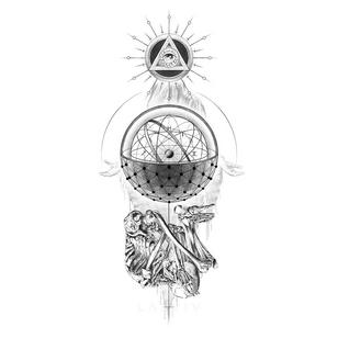 Illustrative tattoo flash by Peter Laeviv #PeterLaeviv #realism #illustrative #linework #intricate #detailed #fineline #skeleton #eye