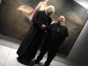 Odd Nerdrum and Paul Booth #PaulBooth #OddNerdrum #LastRites #BoothGallery #biomechanical #darkart #surrealism