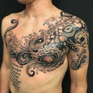 Scar cover up tattoo by Shane Wallin #ShaneWallin #scarcoveruptattoo #scarcoverup #genderconfirmation #genderconfirmationtattoo #topsurgeryscarcoverup #topsurgerytattoo