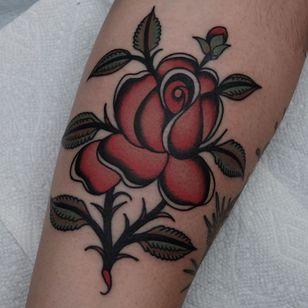 Rose tattoo by Ivan Antonyshev #IvanAntonyshev #rosetattoo #rosetattoos #rosetattooidea #rose #roses #flower #floral #petals #plant #nature #bloom