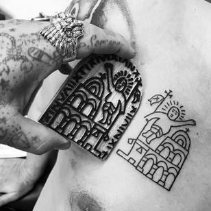Coptic tattoo by Mark Newton aka Skin Sorcerer - Ambassador for Razzouk in the UK #MarkNewton #SkinSorcerer Razzouk Tattoo #RazzoukTattoo #copt #copticchristiancross #christian #christiancross #copticcross #religioustattoo
