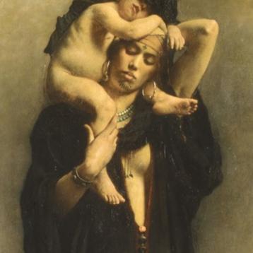 Femme Féllah et Son Enfant painting by Leon Bonnat 1869-70 #copt #copticchristiancross #christian #christiancross #copticcross
