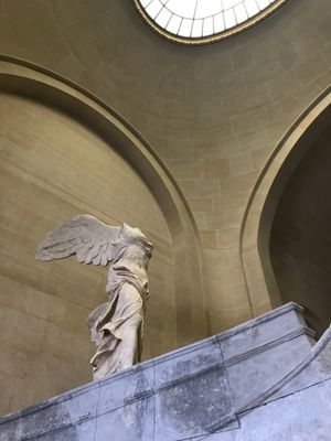 Winged Victory of Samothrace, the Louvre - Tattooed Travels: Paris, France #paris #france #paristattoo #paristattooartist #paristattooshop #tattooparis
