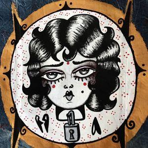 Painting by Monki Diamond #MonkiDiamond #blackwork #illustrative
