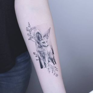 Fennec fox tattoo by Pat aka patricetattoo #Pat #patricetattoo #paris #france #paristattoo #paristattooartist #paristattooshop