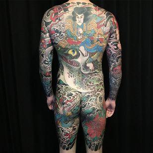 Japanese bodysuit tattoo by Easy Sacha of Mystery Tattoo Club #Mysterytattooclub #easysacha #paris #france #paristattoo #paristattooartist #paristattooshop