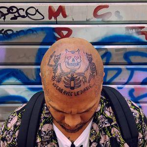 Scalp tattoo by Bastien Viandebleue of Les Maux Bleus #BastianViandebleue #LesMauxBleus