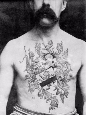 Tattoo by tattoo artist Sutherland Macdonald #SutherlandMacdonald #Britishtattooartist #vintagetattoo #tattoohistory #tattooculture #traditionaltattoo