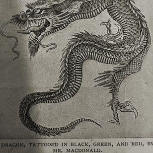 Tattoo flash by tattoo artist Sutherland Macdonald #SutherlandMacdonald #Britishtattooartist #vintagetattoo #tattoohistory #tattooculture #traditionaltattoo