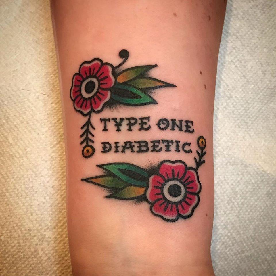 Diabetic tattoo by Matthew Limbers #MatthewLimbers #diabetictattoo #diabetictattoos #diabetic #medicaltattoo