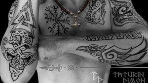 Viking tattoos by dimontaturin #dimontaturin #vikingtattoo #viking #norse #norsemythology #norsesymbols #symbols