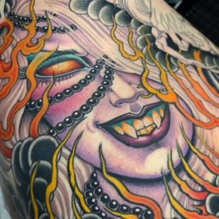 Fire tattoo by Valerie Vargas #ValerieVargas #firetattoos #firetattoo #fire #flames