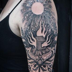 Fire tattoos by Noelle Longhaul #NoelleLonghaul #firetattoos #firetattoo #fire #flames