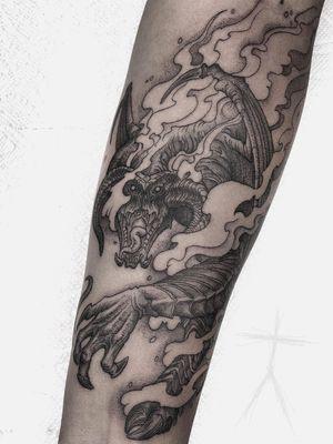 Fire tattoo by Christopher Jade #ChristopherJade #firetattoos #firetattoo #fire #flames