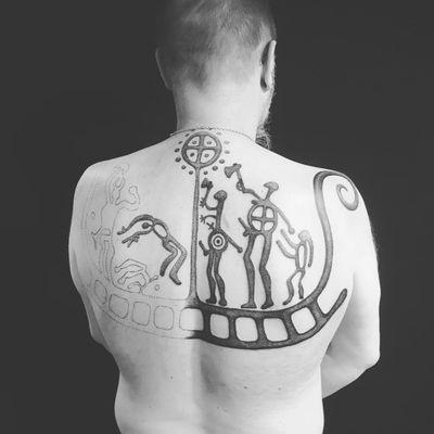 Unfinished Viking tattoo by Larma Tattoo #LarmaTattoo #vikingtattoo #viking #norse #norsemythology #norsesymbols #symbols