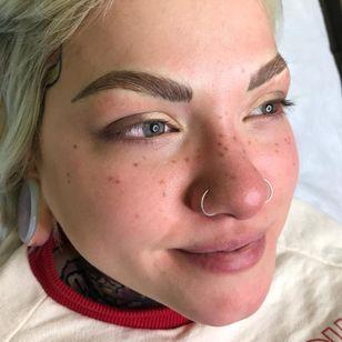 Freckle tattoos by Jessica Knapnick aka Magick Brows: creator of AstroFrecks #Astrofrecks #JessicaKnapnik #MagickBrows #permanentmakeup #cosmetictattooing #cosmetictattoo #freckletattoos