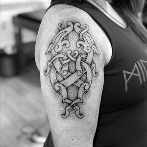 Viking tattoo by Patricia Campos #PatriciaCampos #vikingtattoo #viking #norse #norsemythology #norsesymbols #symbols