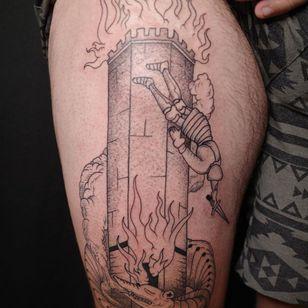 Fire tattoo by Ant the Elder #AnttheElder #firetattoos #firetattoo #fire #flames