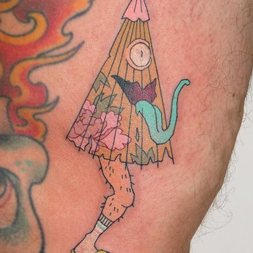 Kasa-obake tattoo by Brindi #Brindi #kasaobake #umbrellatattoo #yokai #japanesetattoos #japanese #irezumi #japanesemythology #mythology