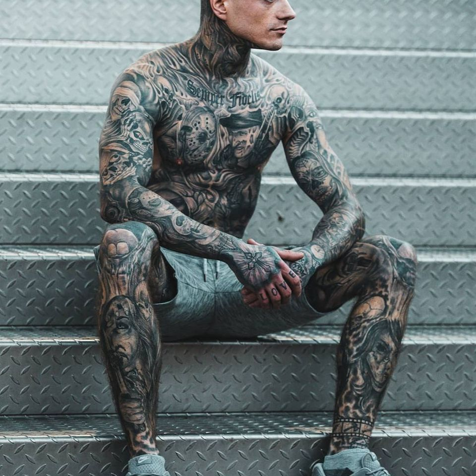 Sebastian Wog photographed by DrPhotoPerformance #SebastianWog #tattoomodel #tattooedmodel