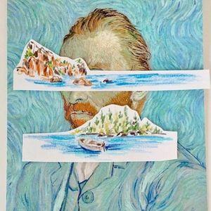Illustrative watercolor tattoo flash by Ovenlee #Ovenlee #OvenleeTattoo #StudioBySol #watercolor #illustrative #colorpencil #sketch #cute #vangogh