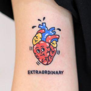 Hand poke tattoo by Hey Hey Diary #HeyHeyDiary #handpoke #handpoketattoo #stickandpoke #stickandpoketattoo