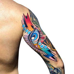 All seeing eye tattoo by pablo_de_tattoolifestyle #pablodetattoolifestyle #allseeingeye #allseeingeyetattoo #eye #eyetattoo #eyeball